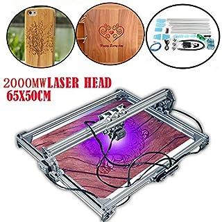 SENDERPICK 3000mW Laserdrucker Graviermaschine,65x50cm Mini Laser Graviermaschine Graviergerät Lasergravur Maschine DIY CNC Laser Engraver Kits