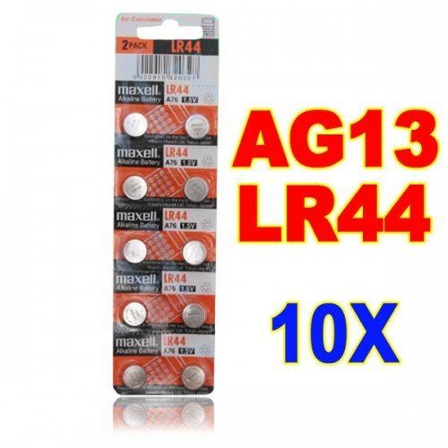 Big Bargain 10 NEW LR44 MAXELL A76 L1154 AG13 357 SR44 303 BATTERY by Big Bargain