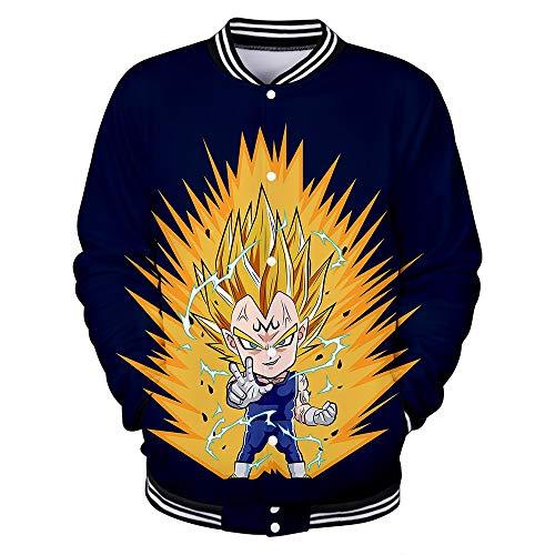 Hengye Technology Sweatshirts für Herren und Damen, einschließlich Dragon Ball Pilot-Baseballtrikot, Slim Casual Baseball Wear 100% Polyester XL XXL,A,M
