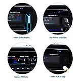 AGPtEK Autoradio USB/MP3 Player/AUX Anschluss/TF-Karte mit Bluetooth und Mikrofon inkl. Fernbedienung 12V - 4
