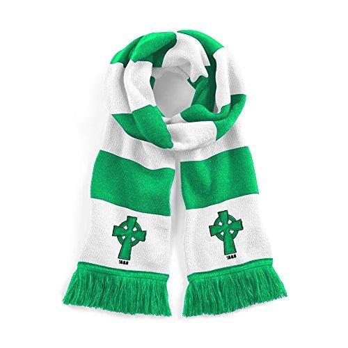 Retro Celtic 1888 Tradicional Bufanda De Fútbol Logotipo Bordado