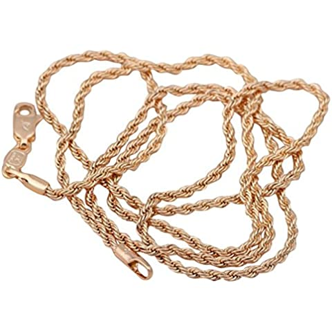 Bling fashion aming Twist Singapore catena oro giallo 18K Placcato Ciondolo Cameo Vintage Fashion Jewelry ln102a