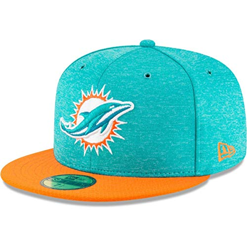 c950c6fd94f New Era NFL Miami Dolphins Authentic 2018 Sideline 59FIFTY Home Cap
