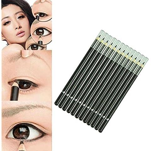 LHWY 12Pcs/Conjunto de Marca Impermeable Líquido Eye Liner Negro lápiz Maquillaje Delineadores de