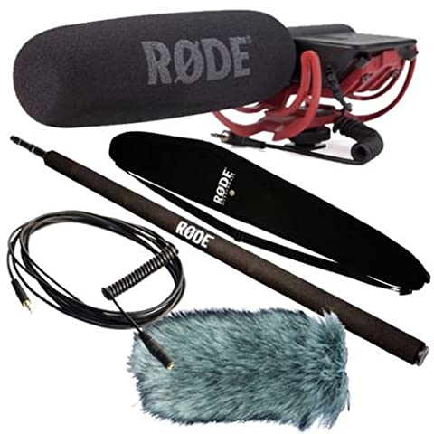 Rode Videomic Rycote + Deadcat Windschutz + Micro-Boompole + VC1 Kabel + Bag