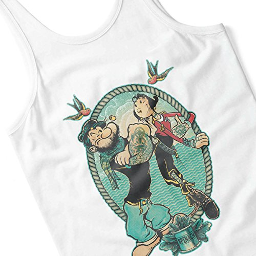 Popeye Me And My Lady Women's Vest White