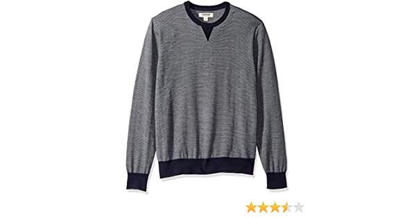 in lana merino Goodthreads felpa girocollo da uomo Marchio con micro strisce