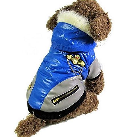 ranphy Kleiner Hund Kleidung für weiblich männlich Bomber PU Leder
