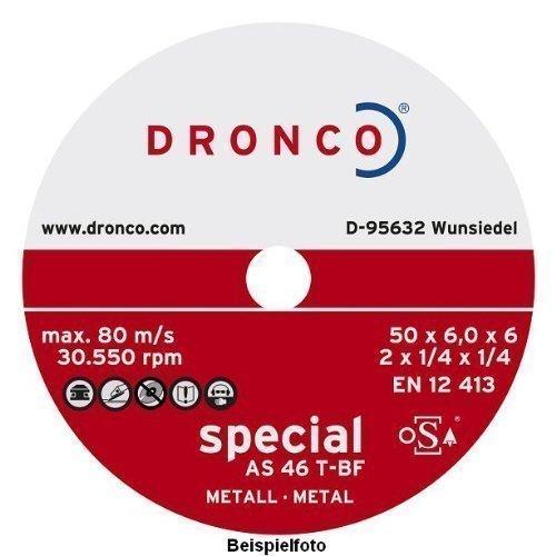 Mini-Schleifscheibe , Schruppscheibe 76 x 6 x 10 , Dronco Test