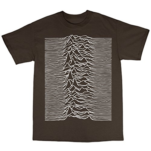 Unknown Pleasures Inspired T-Shirt in 13 Farben Zartbitter-Schokolade