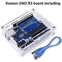 Boite Acrylique De Protection Transparent pour Arduino Uno R3 ATmega328P + Uno R3 avec Un Câble USB K69 De La Marque Kuman