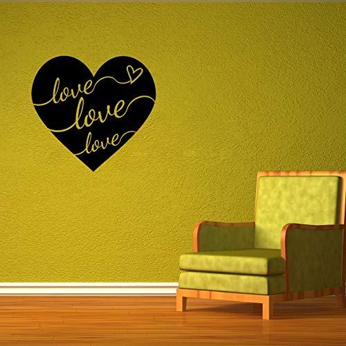 ziweipp Kreative Liebe Herz Wandkunst Aufkleber Aufkleber Schriftzug Spruch erhebend inspirierend Zitat Vers 57 * 54cm
