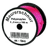 Lot-Maurerschnur 50 m x Ø 2,0 mm Pink-Fluoreszierend