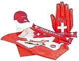 """PEARL Fussball Fansets: Exklusives Fan-Set """"Schweiz"""", 7-teilig (Fan Pakete)"""