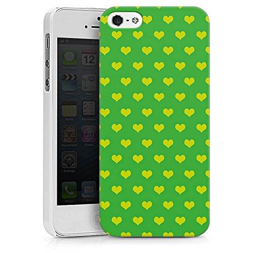 Apple iPhone X Silikon Hülle Case Schutzhülle Herzchen Grün Polka Hard Case weiß