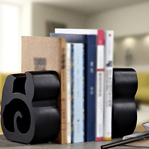 Estantería Librería 16.5 * 6.3 * 15.4 Cm Decoraciones Oficina Blanco Negro ( Color : Negro )