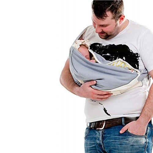Lodger Shelter 2.0 - 3in1 Babytrage, Babytragetuch, Babysling sowie Transportdecke für Babys und Eltern, ab Geburt bis 18 Monate (max. 12kg), Sicheres Verschlusssystem, Trage-Tuch für Babys und Kinder, Schönes Design, Neu und OVP - 8