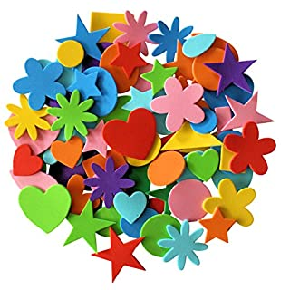 Kids B Crafty Self Adhesive Craft Foam Shapes For Crafts Stickers Assorted Sizes 180 Pieces