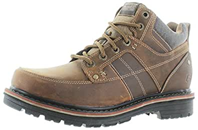 Skechers Relaxed Fit Marcelo Topel Mens Lace Up Boots Dark Brown 8