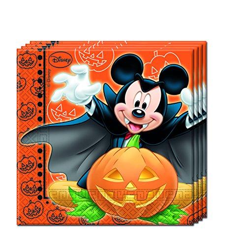 Disney Mickey Maus Halloween Papier Servietten, (Dekorationen Halloween Disney Party)