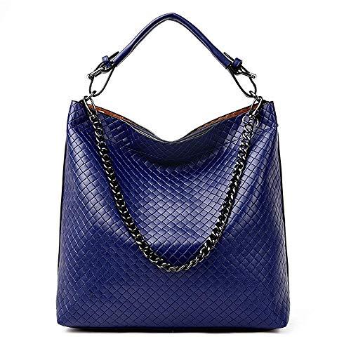 SPFBAG Handtaschen für Damen weiblichen Beutel Mode geflochtene geprägt eine Schulter Tote Crossbody Bucket Bag - Geprägte Mode Handtasche