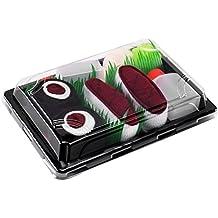Sushi Socks Box Idea REGALO Divertente Prodotto in Europa 3 paia di CALZINI SUSHI: Nigiri Tonno Octopus Cetriolo Maki Certificato OEKO-TEX Calze fantasia di COTONE per Donna e Uomo