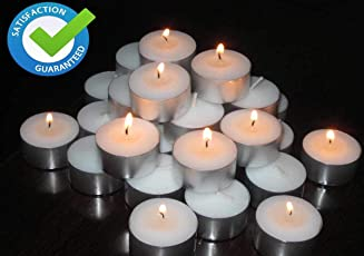Pure Source India pack of Tea Light Candles smokeless 3.5 hrs burning .