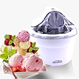 White Electric Ice Cream Maker Machine 1.5L Small Appliance Frozen Yogurt Machine