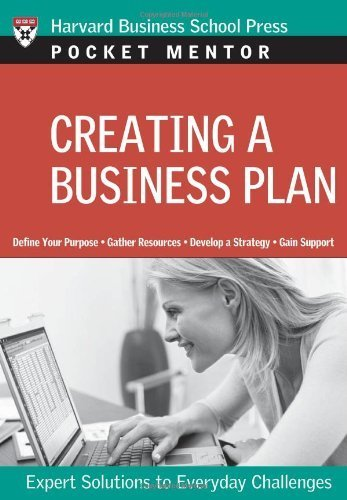 Creating a Business Plan (Pocket Mentor) by Harvard Business Press (2007-11-19) par Harvard Business Press