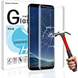 Samsung Galaxy S8 Schutzfolie Schutzglas,Yica Galaxy S8 Schutzfolie HD Clear Screen protecter Curved Panzerglas Schwarz 9H Tempered Glass für Samsung Galaxy S8
