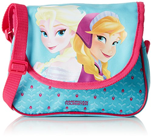 Disney New Wonder Jr. Frozen Bolso Bandolera, 2.5 Litros, Color Azul