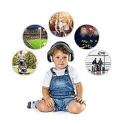 Gehörschutz für Babys SilentGuard, besonders weich und leicht für den empfindlichen Babykopf, mitwachsend, blau