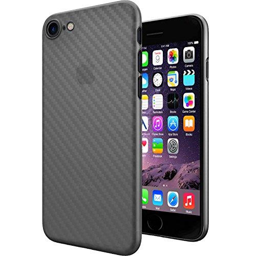 Original TheSmartGuard iPhone 8 & 7 Hülle Case Schutzhülle im Carbon Fiber Look / Kohlefaser Optik (4,7 Zoll) - Ultra-Slim / Ultra-dünn - NEU mit integriertem Schutz für die Kamera-Linse - Farbe schwa Carbon Look Transparent