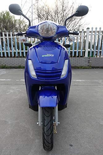 Scooter eléctrico con 3 ruedas Green23 ES15 para ancianos discapacitados, color azul