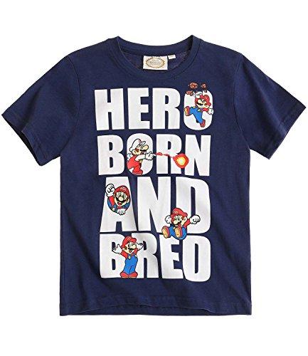 Super Mario Bros Chicos Camiseta manga corta - Azul - 128