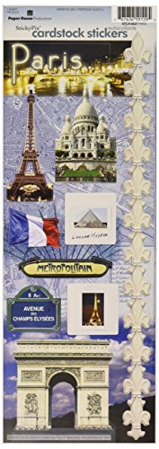 Paper House Productions Kartonaufkleber, Motiv Smoky Mountains Paris (Paris Aufkleber)