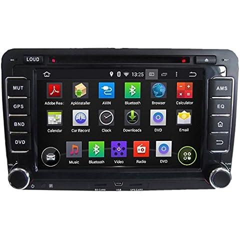 7 pulgadas Coche Radio con GPS Android 5.1.1 Lollipop para Volkswagen Golf Plus(2003 2004 2005 2006 2007 2008 2009 2010 2011 2012 2013),Televisión Digital(DVB-T MPEG4) Pantalla Táctil Capacitiva con 1.6G de la Cortex A9 Quad Core CPU 16G y 1G DDR3 RAM Flash 1024x600 Radio DVD 3G/WIFI OBD2 Aux Entrada USB/SD DVR