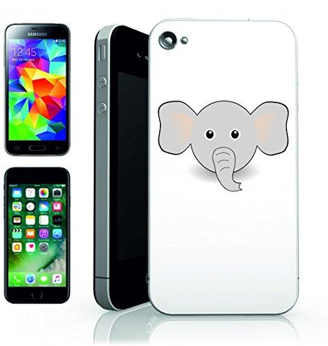 Smartphone Case Elefante della Tribù degli Animali dell Africa del Cartoon carino orecchie di Dumbo comico grigio per APPLE IPHONE 4/4S, 5/5S, 5C, 6/6S, 7& Samsung Galaxy S4, S5, S6, S6Edge, S7,