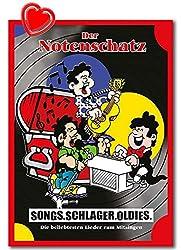 Der Notenschatz (Melodie und Akkorde) Überarbeitete Edition - Songs, Schlager, Oldies. Die beliebtesten Lieder zum Mitsingen - BOE7913 9783954561841 mit herzförmiger Notenklammer