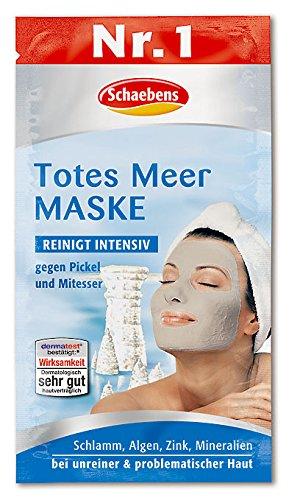 Schaebens Totes Meer Maske, 10er Pack (10 x 15 ml) - Meer Peeling Totes Gesicht