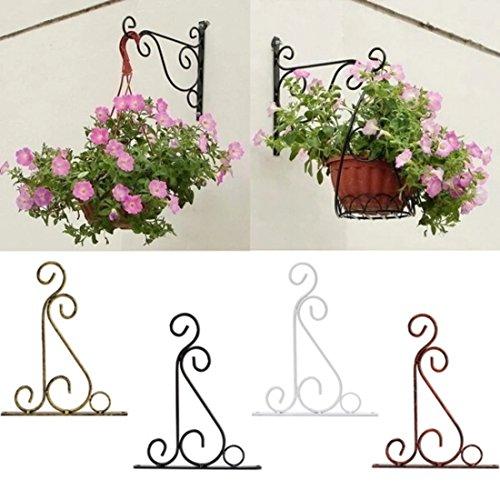 Kungfu Mall Romantique classique forgé crochet de support de fleurs en fer forgé de plantes de fer pots crochets