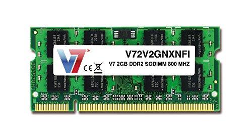 V7 V72V2GNXNFI Notebook DDR2 SODIMM Arbeitsspeicher 2GB für Notebook (800MHz, CL6, 200 polig) -