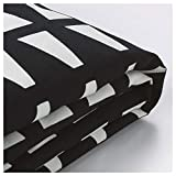 IKEA ASIA LYCKSELE Chair-bed cover Ebbarp black white