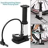 Birud® Cycle Pump Mini Bike Pump Foot Activated with Gauge Floor Bicycle