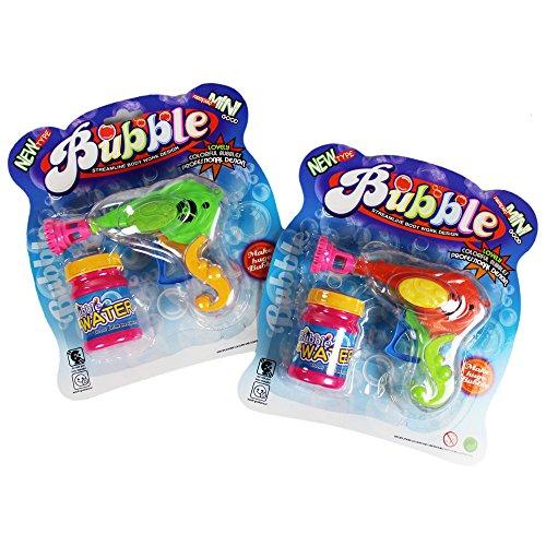COM-FOUR® 2er Set Seifenblasenpistole aus Kunststoff inkl. 20 ml Seifenblasenwasser