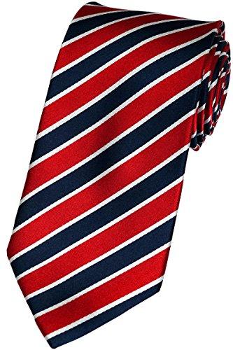 Beytnur Herren Seiden Krawatte Rot / Blau / Weiss Model Nr. K 28.4