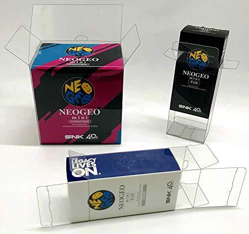 1x Schutzhülle für SNK NEO GEO MINI Konsole+ 2x Schutzhülle für Controller Originalverpackung Box PET Protector SET mit 0,5 mm Stärke