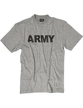 Camiseta estampado 'ejército' gris