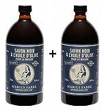 Marius Fabre Savon de Marseille - Schwarze Olivenöl-Seife 1L -
