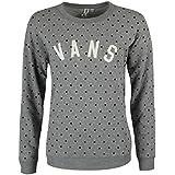 Vans Sweat-shirt Surveillance Femme Gris Pois